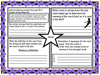 Classic Starts Peter Pan Chapter 9 Vocabulary Organizer NYS Module 3