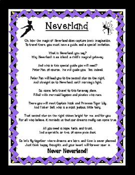 Classic Starts Peter Pan Inspired Original Poem titled Neverland