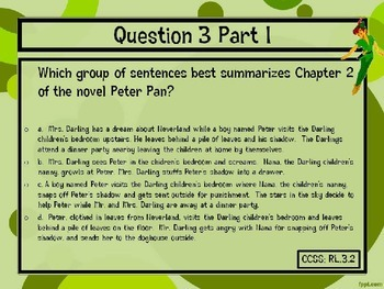 Classic Starts Peter Pan Chapter 2 PARCC-Like Text-Based Questions