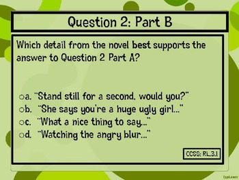 Classic Starts Peter Pan Chapter 3 PARCC-Like Text-Based Questions
