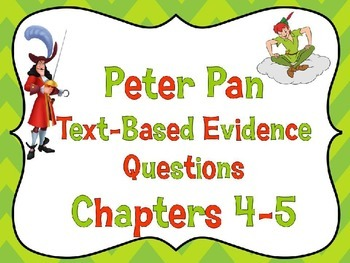 Classic Starts Peter Pan PARCC-Like Bell Ringers PowerPoint for Chapter 4 and 5