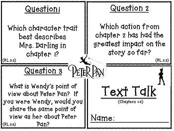 Classic Starts Peter Pan Text Talk