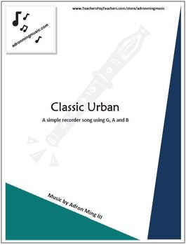 """""""Classic Urban"""" Recorder Music with Fun Background Track"""