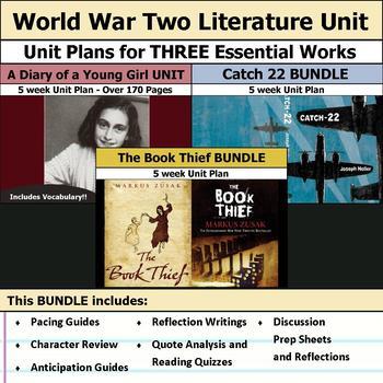 Classic World War Two Literature Unit Bundle