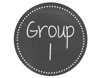 Classic White and Chalkboard Table/Group Sign