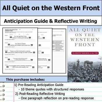 Classic World War One Literature Unit Bundle