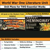 Classic World War One Literature Unit Curriculum