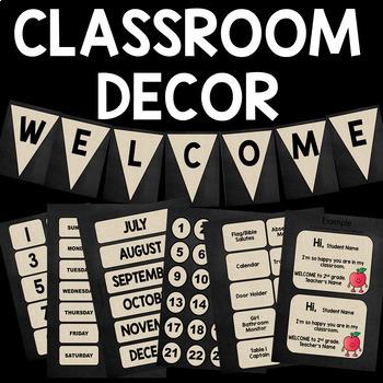 Classic and Sharp Classroom Decor