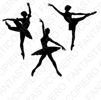 Classic and modern dancers SVG files for Silhouette Cameo and Cricut.