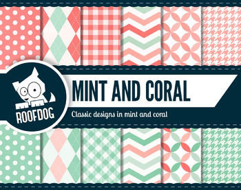 Classic patterns in mint and coral