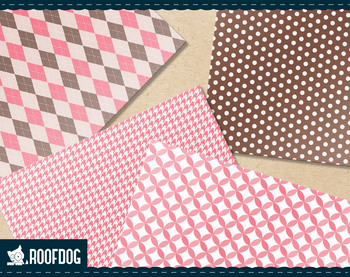 Classic patterns in pink and chocolate