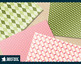 Classic patterns in watermelon pink and green