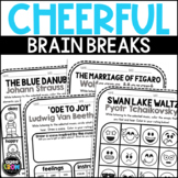 Classical Cheer! Listening Sheets - Beethoven, Mozart, Tchaikovsky
