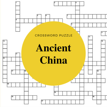 Classical/Ancient China Crossword Puzzle