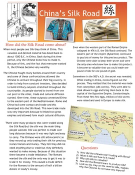 Classical China Silk Road + Civil Service Multiple Lesson Plan Bundle!