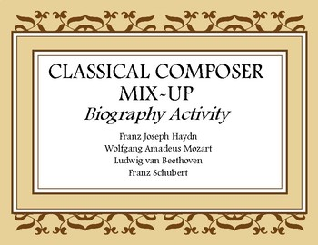 Classical Composer Activity Pack- Sub Plans- Music Worksheet