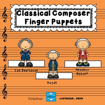 Classical Composer Finger Puppets (for listening)