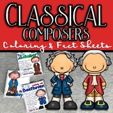 Classical Composers Coloring and Fact Sheets