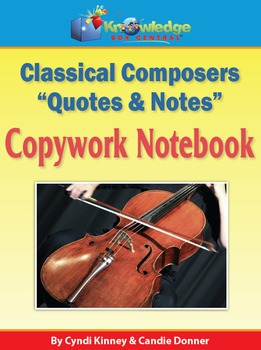 "Classical Composers ""Quotes & Notes""  Copywork Notebook"
