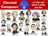 Classical Composers - Schmillustrator's Clip Art Emporium