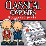 Classical Composers Staggered Books