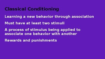 Classical Conditioning PowerPoint