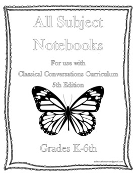 Classical Conversations 5th Edition Notebook Multi-Subject