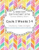 Classical Conversations Cycle 1 Weeks 1-4 Science Memory W