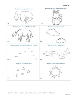 Classical Conversations Cycle 2 Visual Science Flashcards