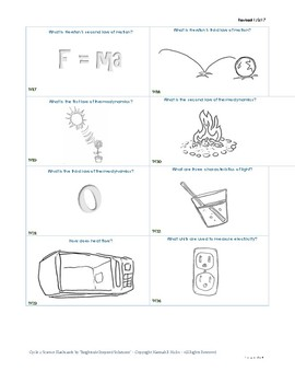 Classical Conversations Cycle 2 Visual Science Flashcards - 4th edition