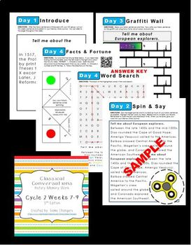 Classical Conversations Cycle 2 Weeks 7-9 History Memory Work 5th Edition