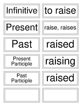 Classical Conversations Cycle 3 English (Week 8) Irregular Verb Flashcards