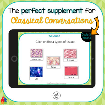Classical Conversations Cycle 3 Week 1 Interactive Review Cards