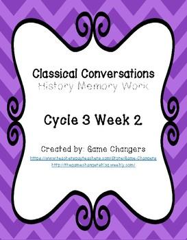 Classical Conversations Cycle 3 Week 2 History Memory Work