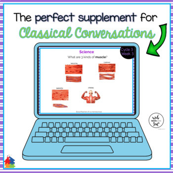 Classical Conversations Cycle 3 Week 3 Interactive Review Cards