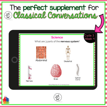 Classical Conversations Cycle 3 Week 4 Interactive Review Cards