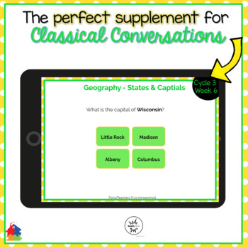 Classical Conversations Cycle 3 Week 6 Interactive Review Cards