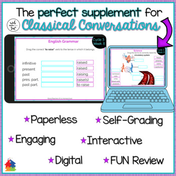 Classical Conversations Cycle 3 Week 8 Interactive Review Cards