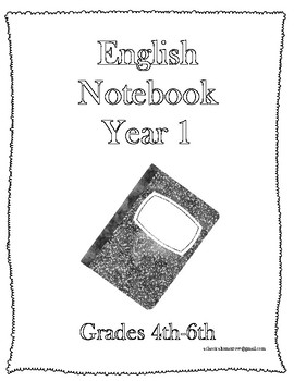 Classical Conversations English Notebook Year 1 Grades 3-6
