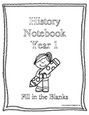 Classical Conversations History Fill in the Blank Notebook