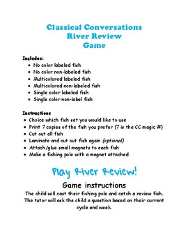 Classical Conversations River Review Game