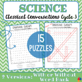 Classical Conversations SCIENCE Word Search Puzzles for Cycle 3