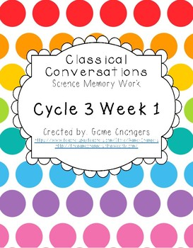 Classical Conversations Science Memory Work Cycle 3 Week 1