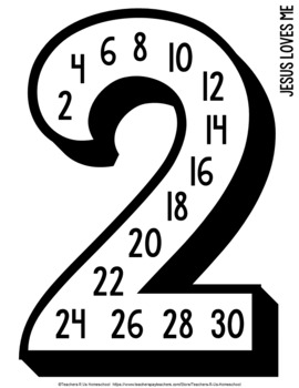 5th Ed. Classical Conversations Skip Counting Posters [#1-15, Squares, Cubes]