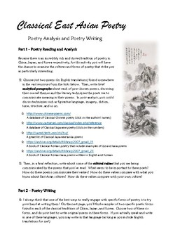 Classical East Asian Poetry Lessons/Handout (Chinese, Japanese, Korean)