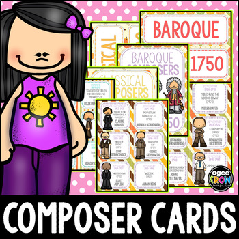 50 Classical Composer Flashcards, Baroque, Classical, Autumn, Thanksgiving