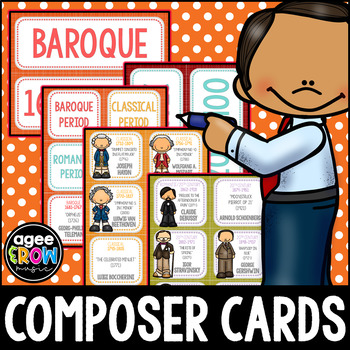 50 Classical Composer Flashcards, Classical, Autumn, Thanksgiving Activities