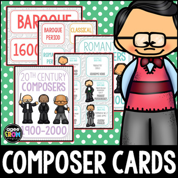 Composer Flashcards (50) Classical, December, Winter Activities, Christmas