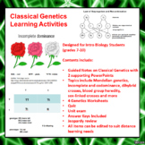 Classical Genetics Learning Activities (Mendelian and Beyond Mendel)