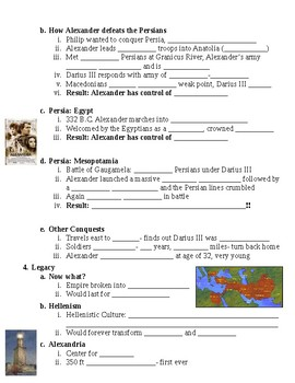 Classical Greece Alexander the Great Guided Lecture Notes